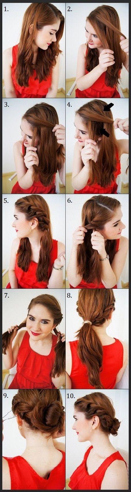 Creative Summer Hair Up Do