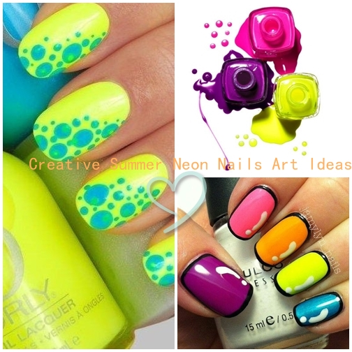 Creative Summer Neon Nails Art Ideas