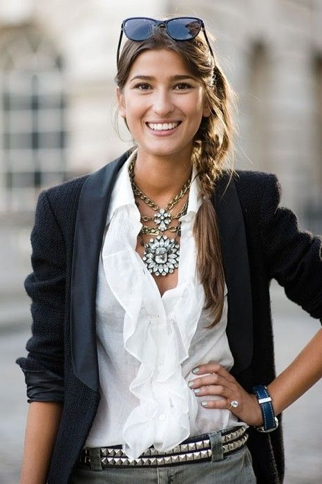 Formal outfit with big statement necklace