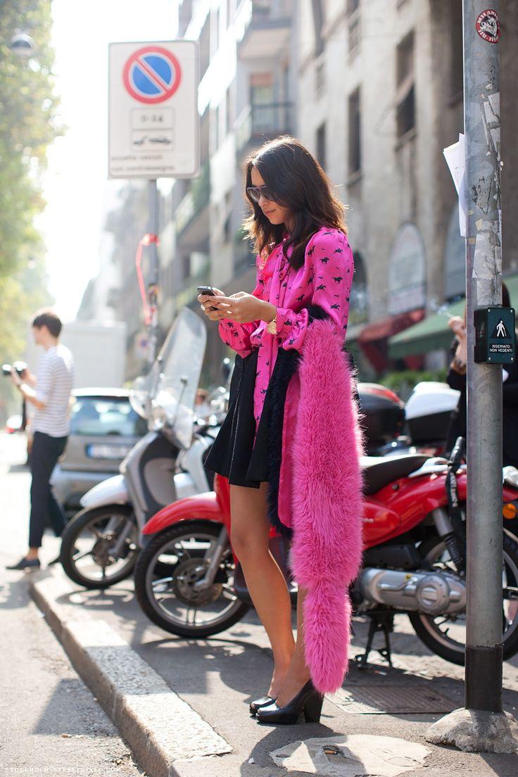 Fuchsia Fashion Street Style