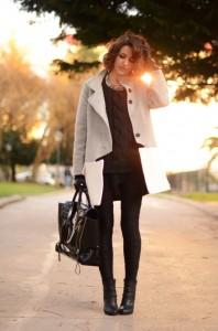 Grey Coat Dress