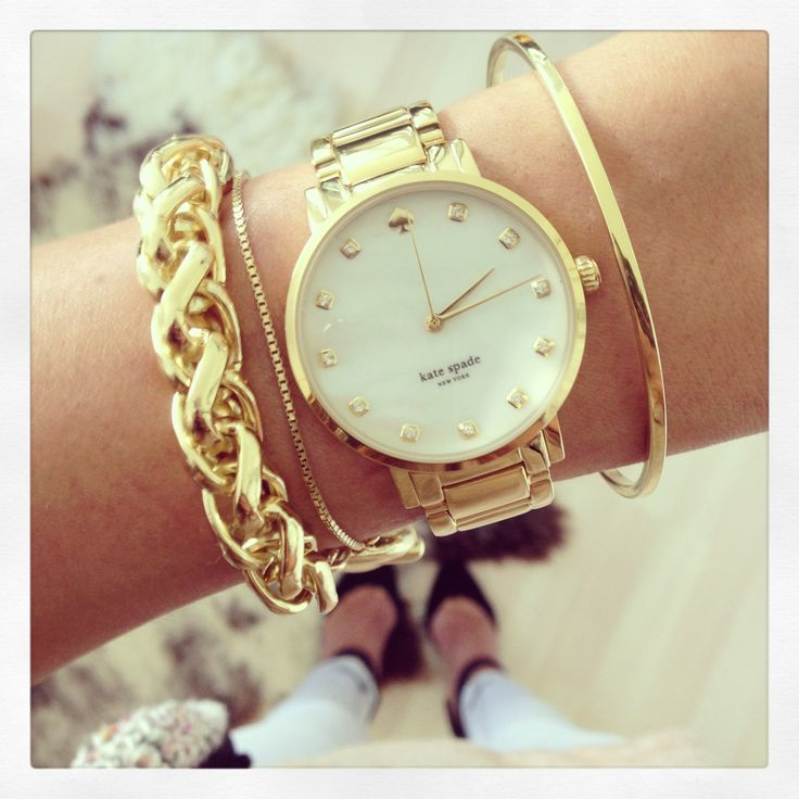 Kate Spade Watch and Gold Bracelets