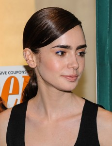 Lily Collins Nude Lipstick