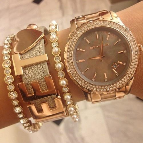 Lovely Watch And Bracelet