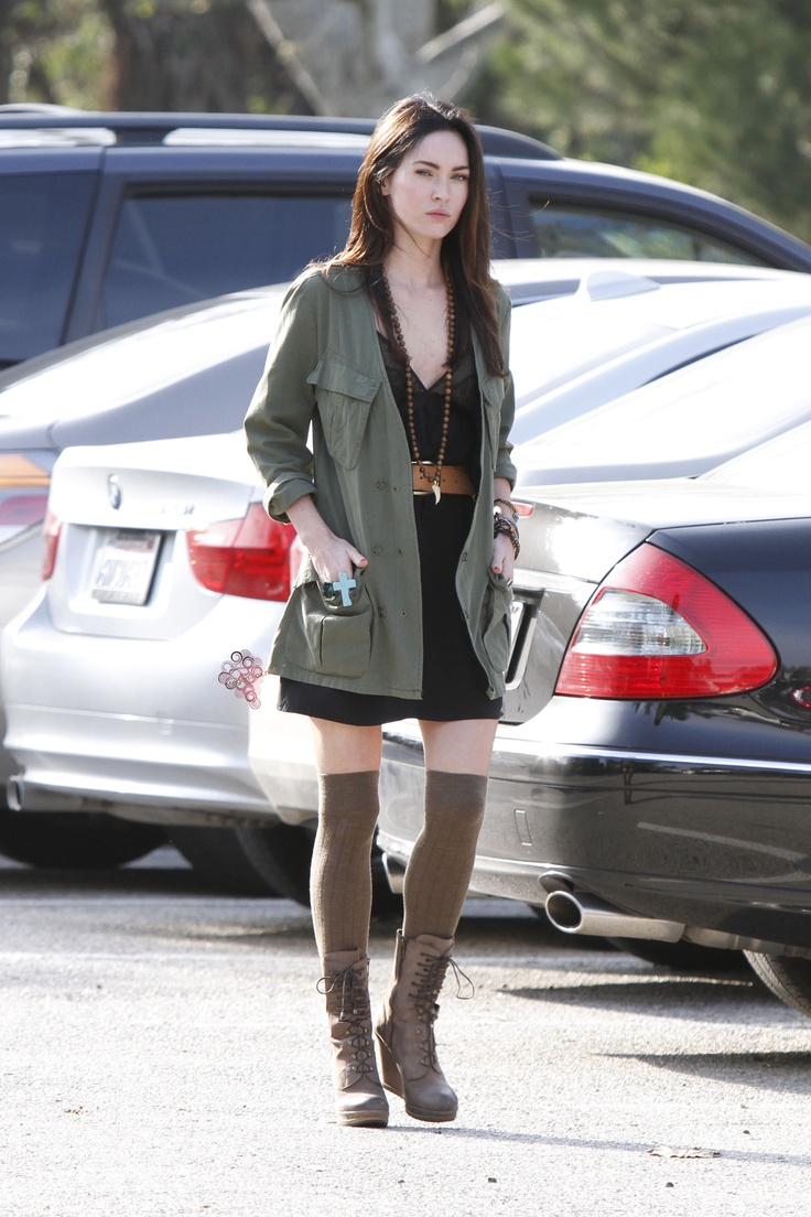 Megan Fox Street Style With An Army Coat