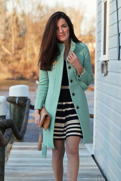 Mint Coat Dress Outfit