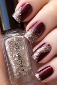 Ombré glitter nails
