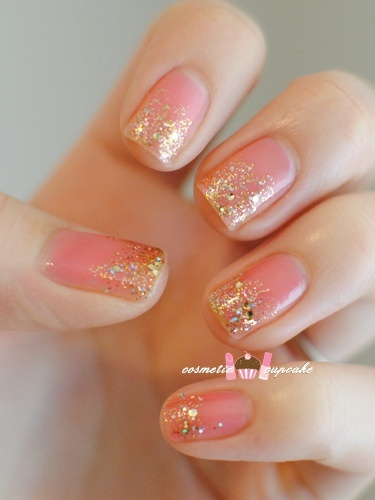 Pink Glitter Nails Arts