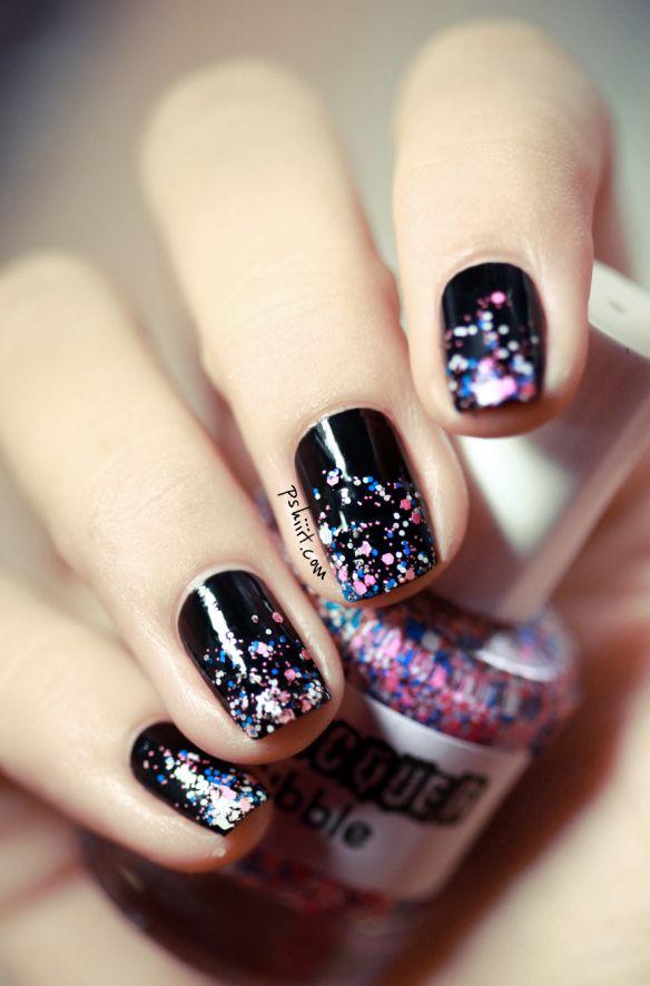 Sparkles nail arts