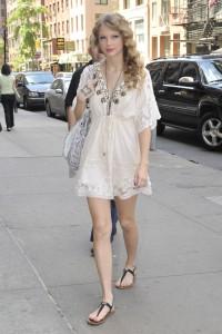 Taylor Swift Boho White Dress