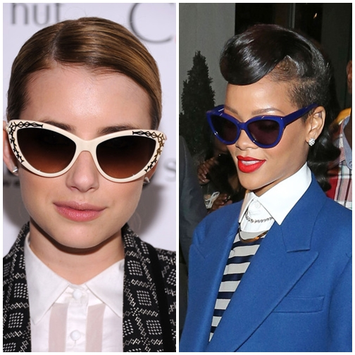 Trend celebrity cateye sunglasses