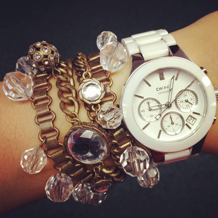 Watch and Bracelet Layered