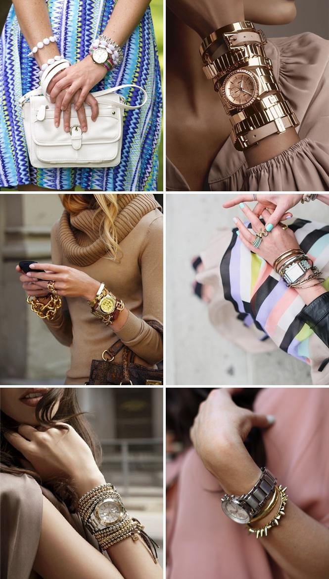 Watch stacked Bracelets