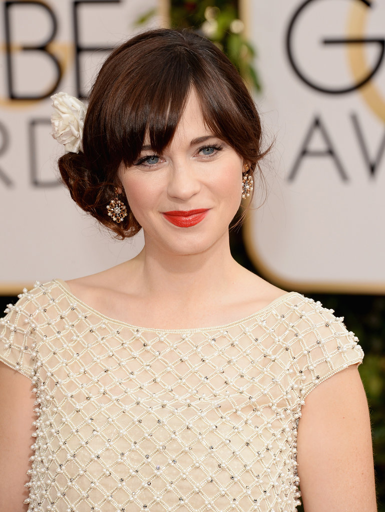 Zooey Deschanel Hair Knot