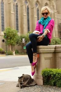 fuschia and turquoise fashion