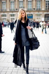 great black scarf