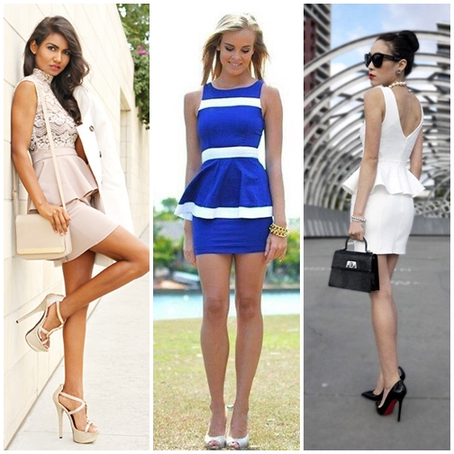 2014 Most Favorite Models Of Peplum Dress