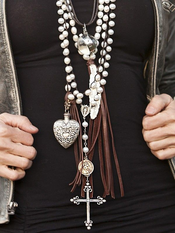 Boho chic style trend- layered necklaces for a modern hippie allure