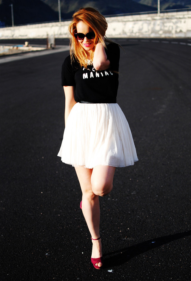 Casual Style With tulle Skirt