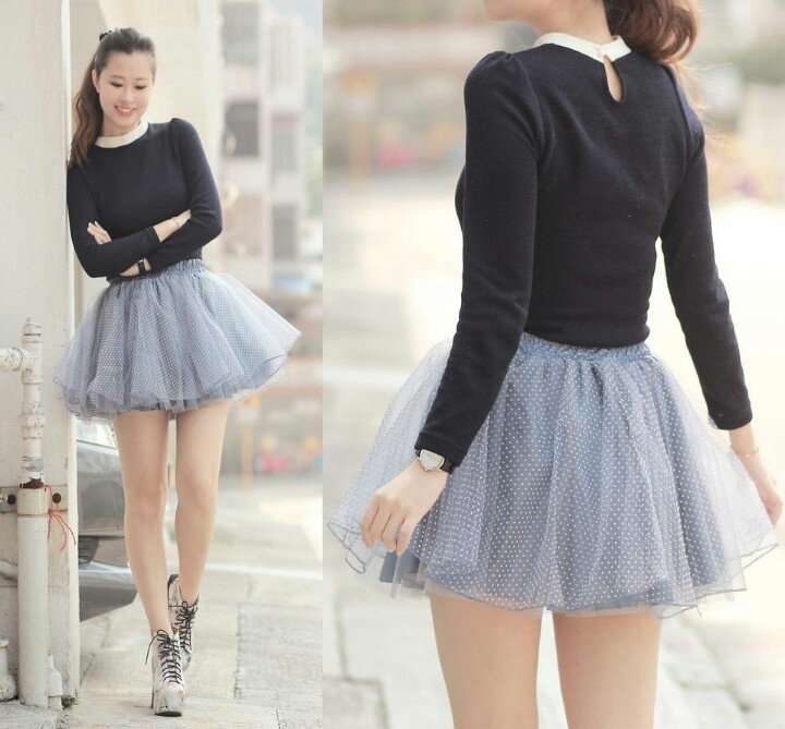 Cute Polkadot Tutu Skirt