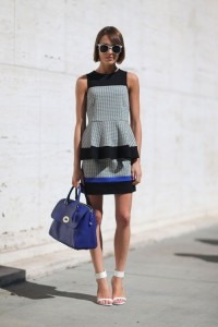 Peplum Dress on New York Fashion Week Spring 2014