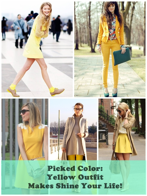 Picked Color Yellow Outfit Makes Shine Your Life!
