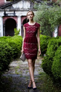 Pretty lace peplum dress