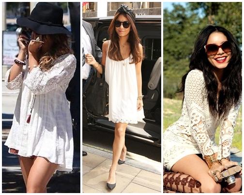 White Boho Chcic Dress
