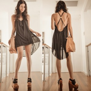 backless Dress by Elle May