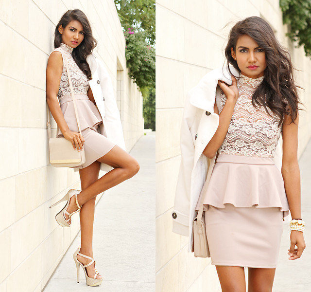 lace peplum dress by 2B