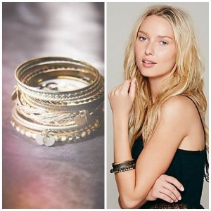 Coin Drop Bangle Set Style Guide: Boho Vintage Bangles By FreePeople