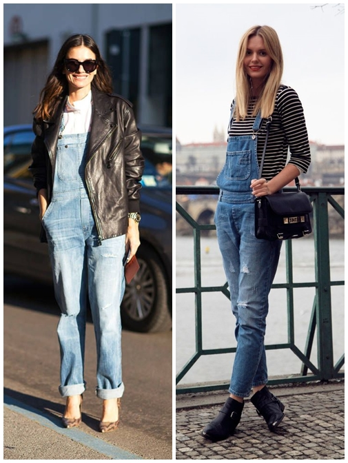 Trend Outfit With Long Overalls