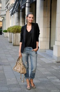 black on black blazer