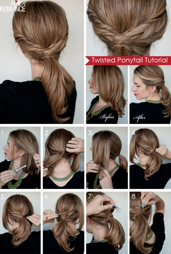 twisted ponytail tutorials