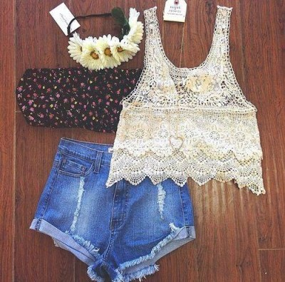 Lace Top Mix Match Ideas