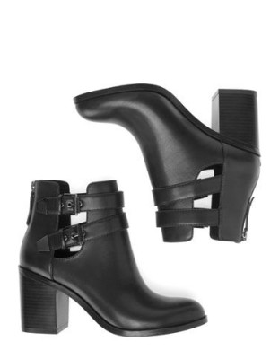 High Heeled Cut Out Boots