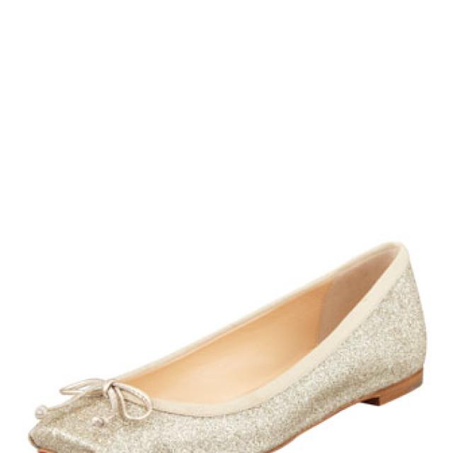 Christian Louboutin Rosel Glitter Ballerina Flat, Gold