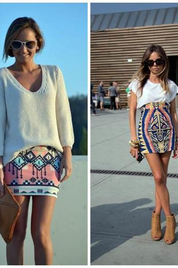 How To Chic: Tribal Printed Skirt
