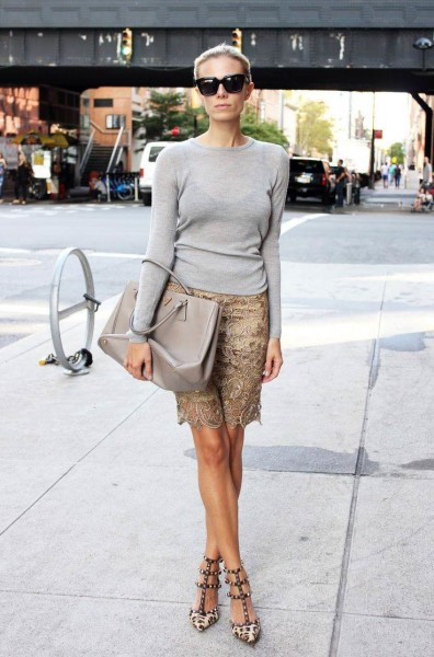 Picked Color Play Neutral With Grey Outfit Ideas