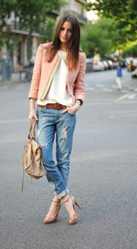 Trend Outfit With Pin Roll Jeans