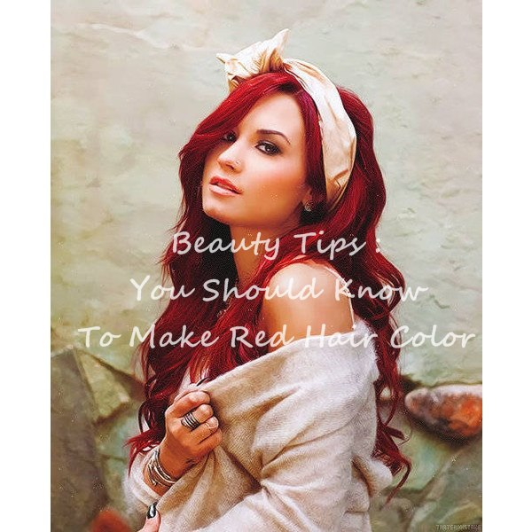 Beauty Tips You Should Know To Make Red Hair Color