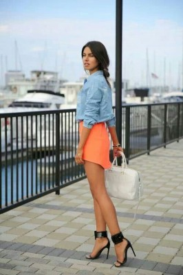 Picked Color: Playing With Orange Outfit