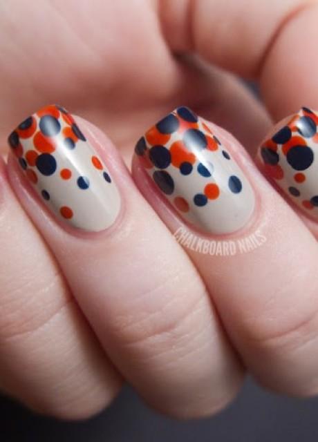 Easy Polka Dots Nail Art Inspirations