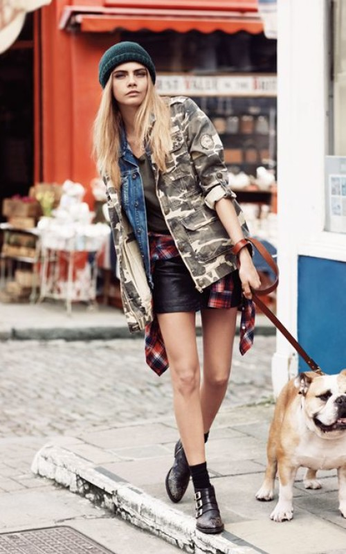 Cara delevingne -Street Fashion Inspiration To Dog Lovers
