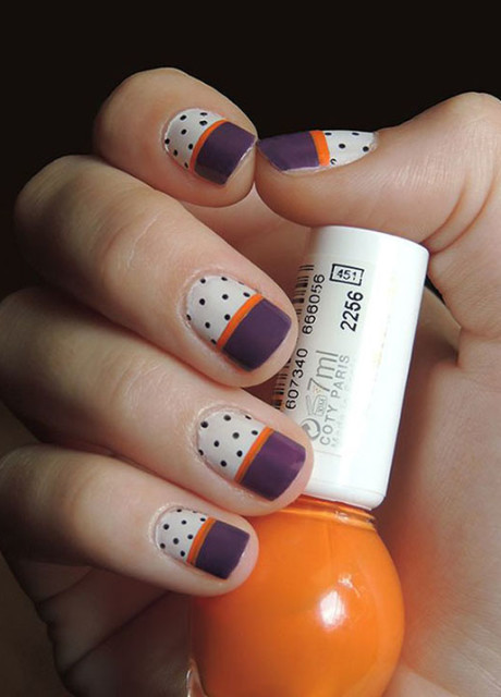 Easy Polka Dots Nail Art Inspirations