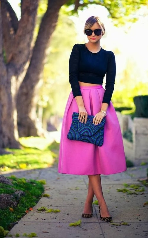 How To Wear Midi Skirt And Outfit
