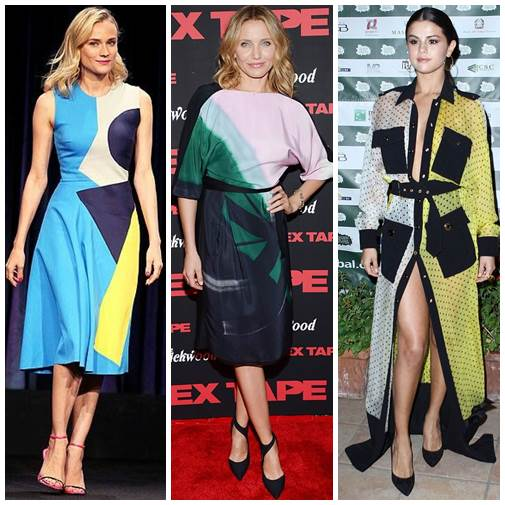 Color Blocking On The Red Carpet