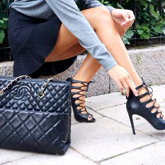 How To Wear Lace Up Heels