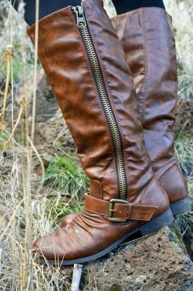Long Zipper Boots