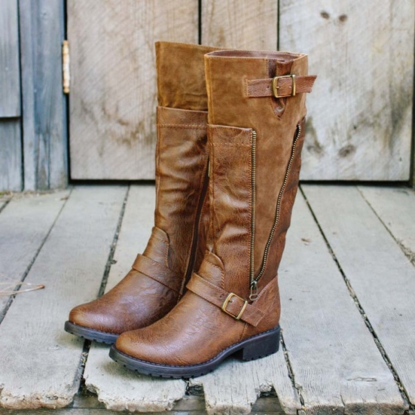 brown fall boots